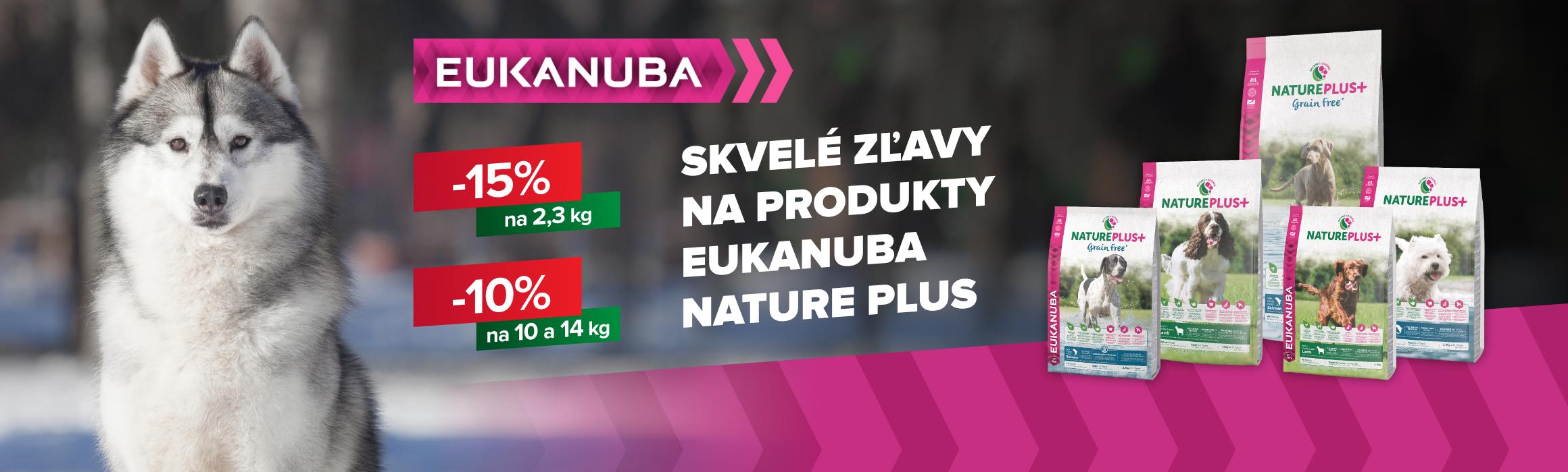 EUKANUBA Skvelé zľavy na produkty EUKANUBA NATURE PLUS