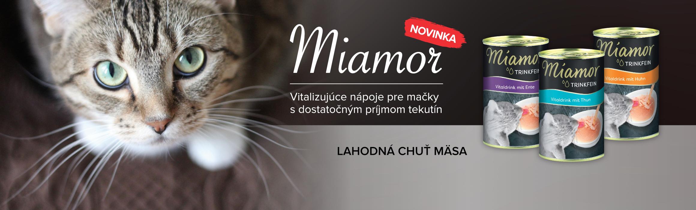 MIAMOR Viatalizujúce nápoje pre mačky